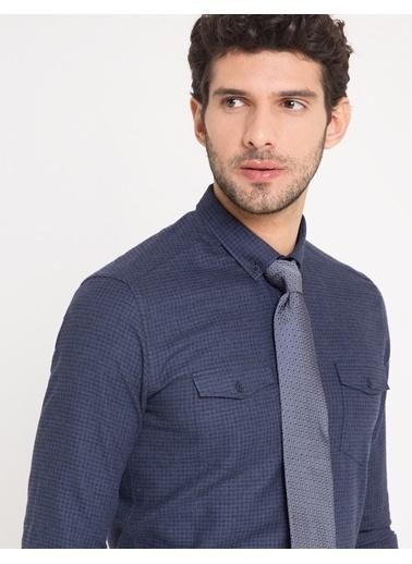 Pierre Cardin Ekose Slim Fit Gömlek Mavi